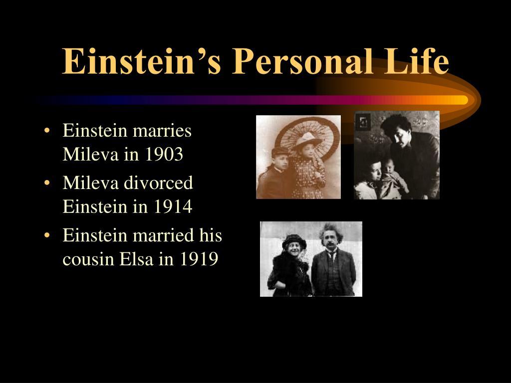 Einstein's Personal Life