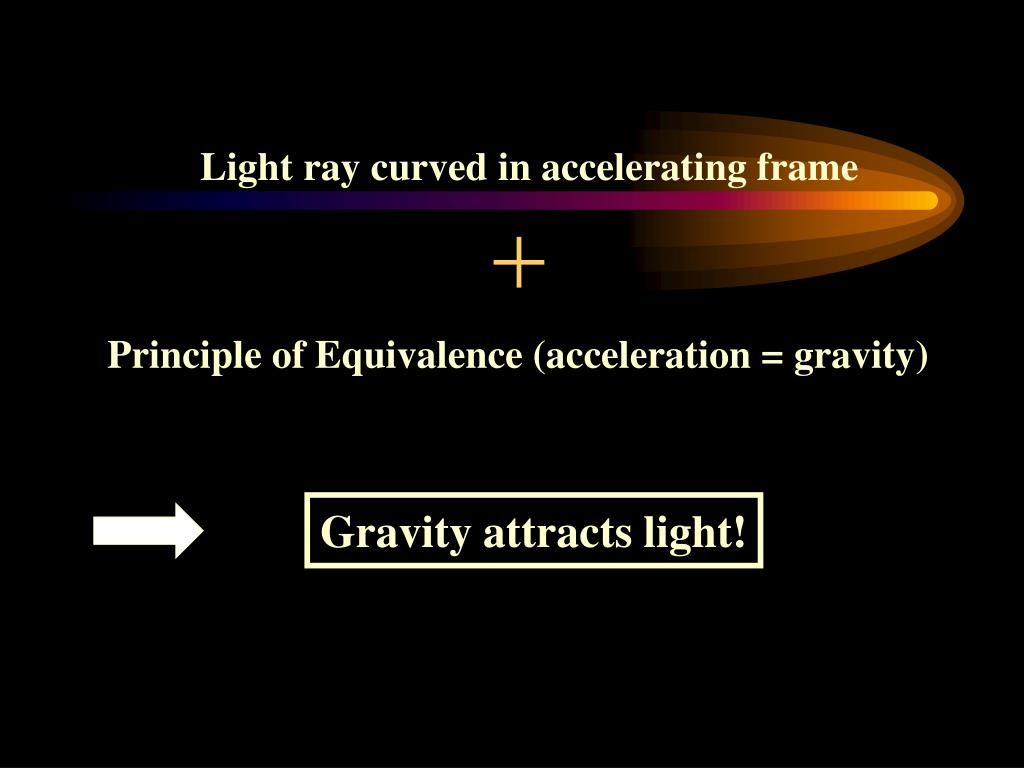 Light ray curved in accelerating frame