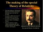 the making of the special theory of relativity