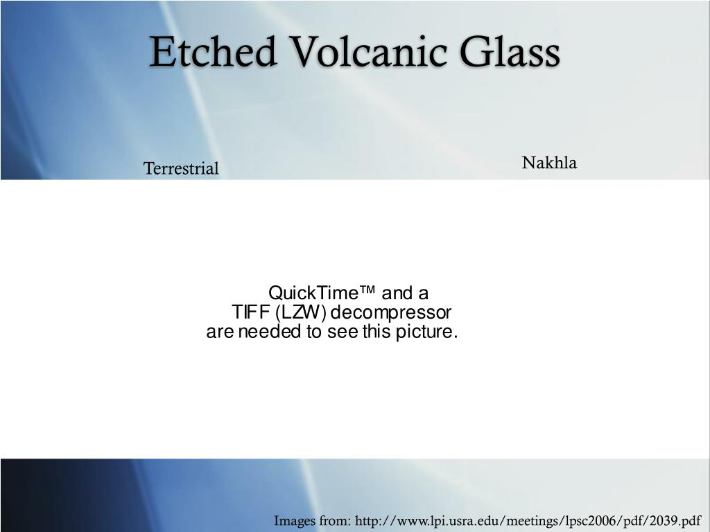 Etched Volcanic Glass