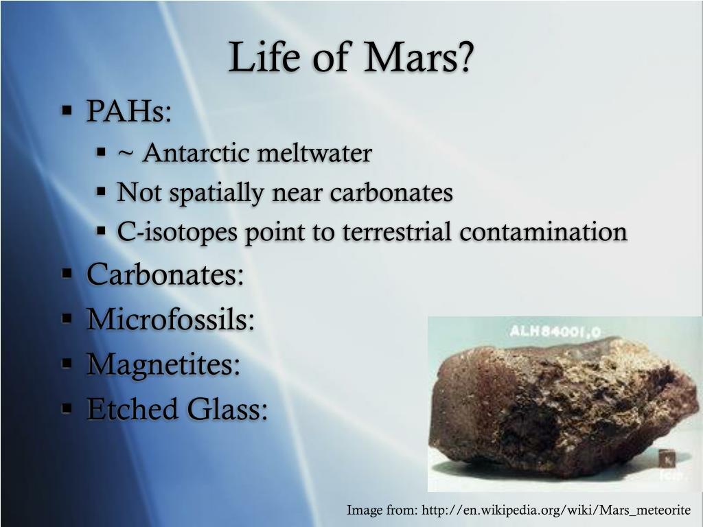 Life of Mars?