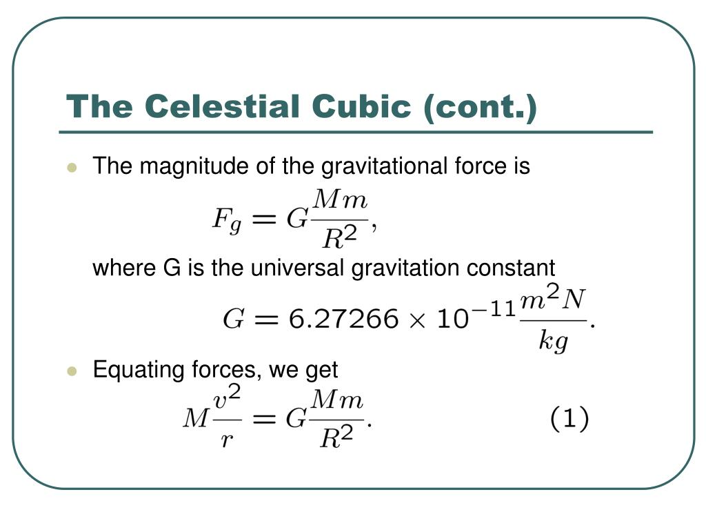 The Celestial Cubic (cont.)