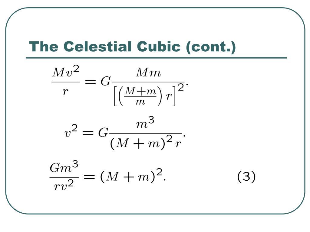 The Celestial Cubic (cont.)