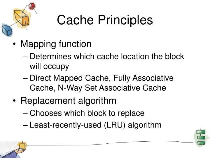 Cache Principles