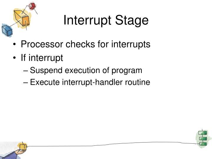 Interrupt Stage