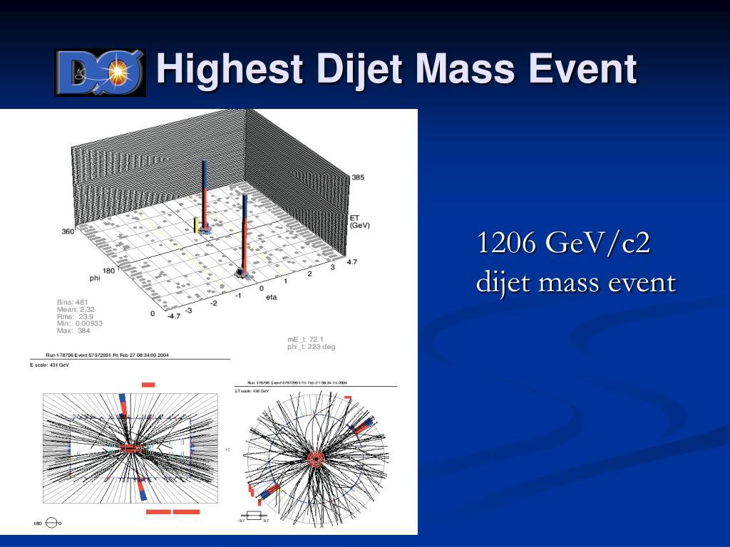 D0 Highest Dijet Mass Event