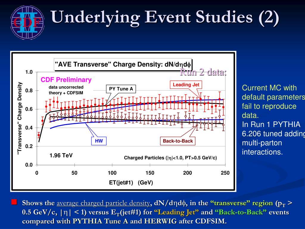 Underlying Event Studies (2)