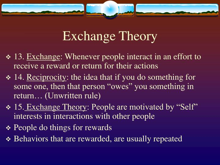 Exchange Theory