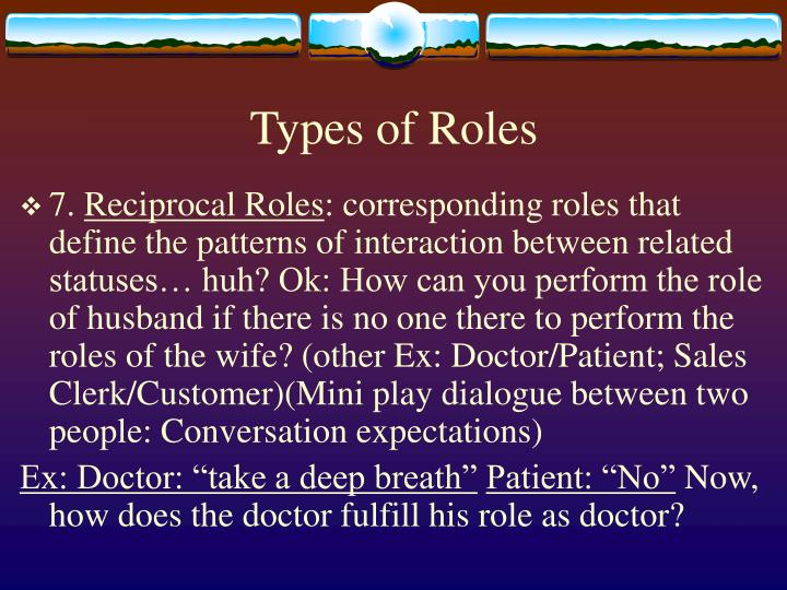Types of Roles