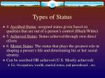 types of status