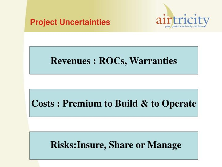 Project Uncertainties