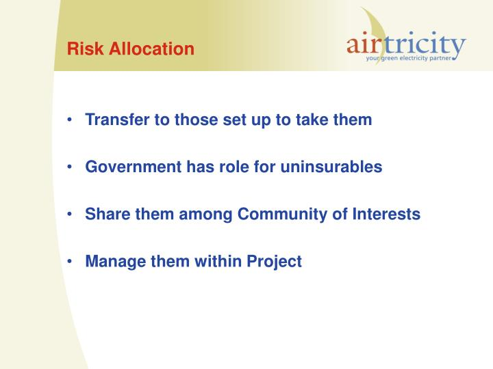 Risk Allocation