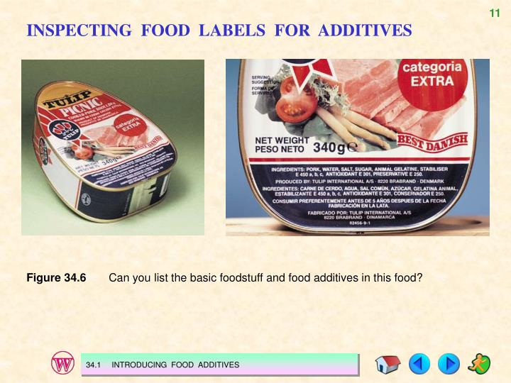 INSPECTING  FOOD  LABELS  FOR  ADDITIVES