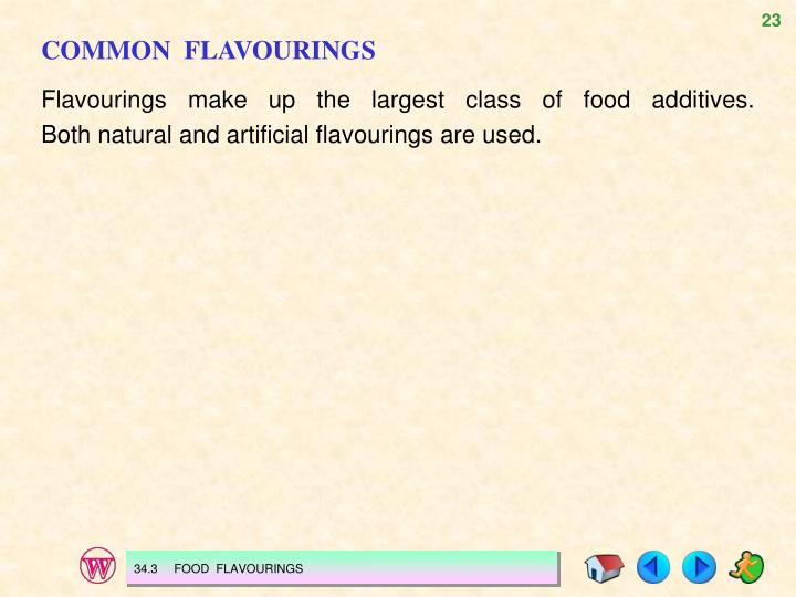 COMMON  FLAVOURINGS