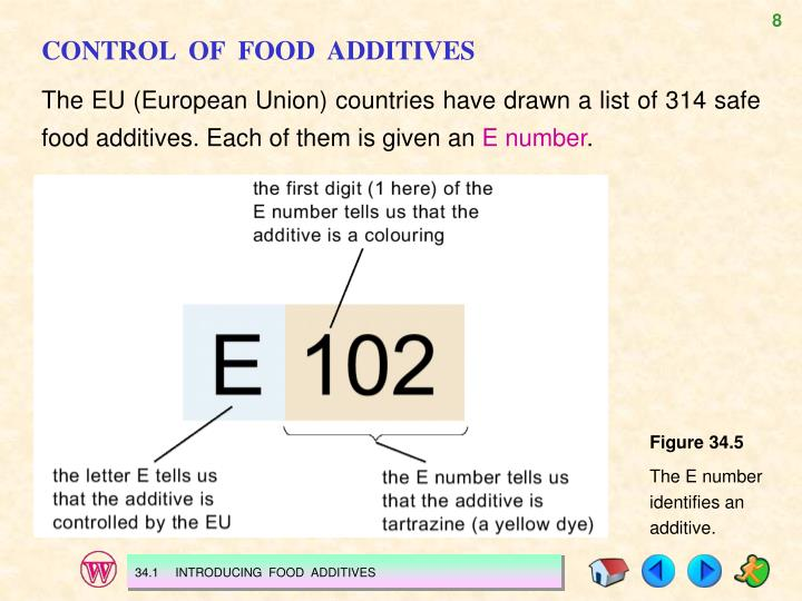 CONTROL  OF  FOOD  ADDITIVES