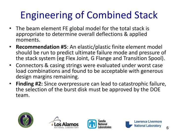 Engineering of Combined Stack