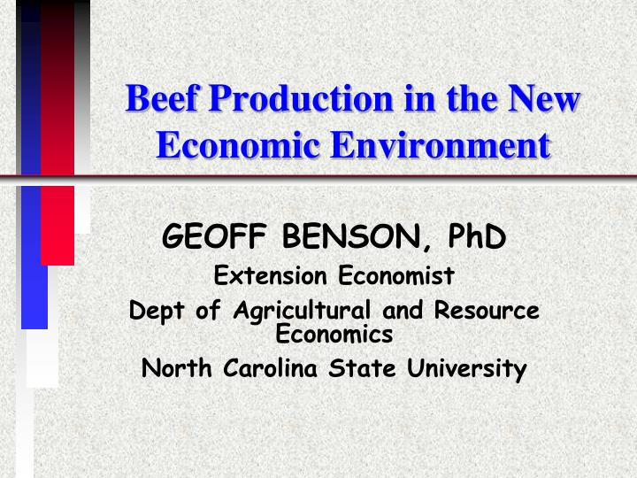Beef production in the new economic environment