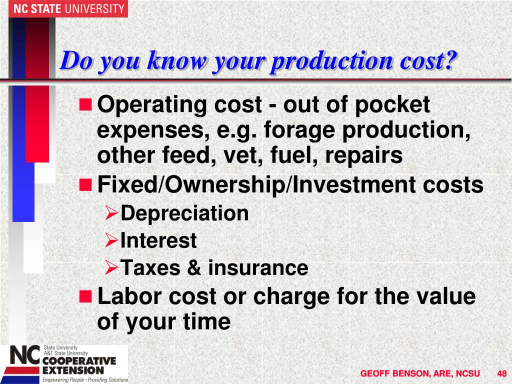 Do you know your production cost?