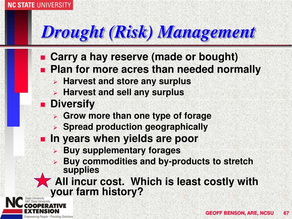 Drought (Risk) Management