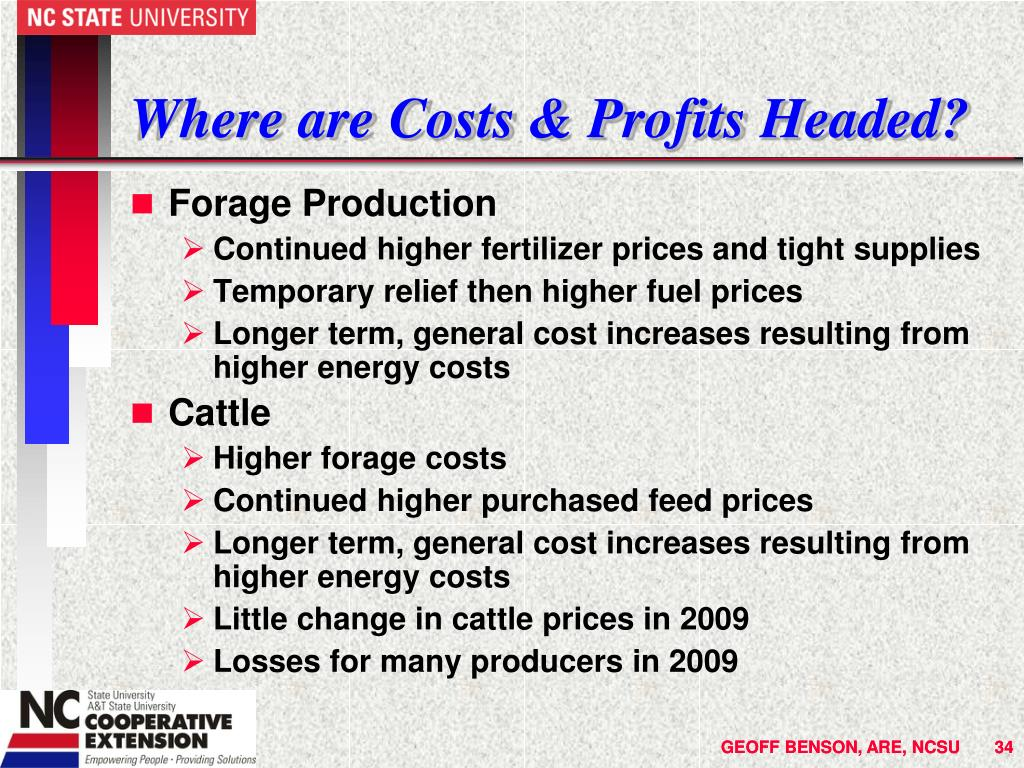 Where are Costs & Profits Headed?