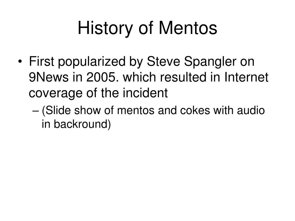 History of Mentos