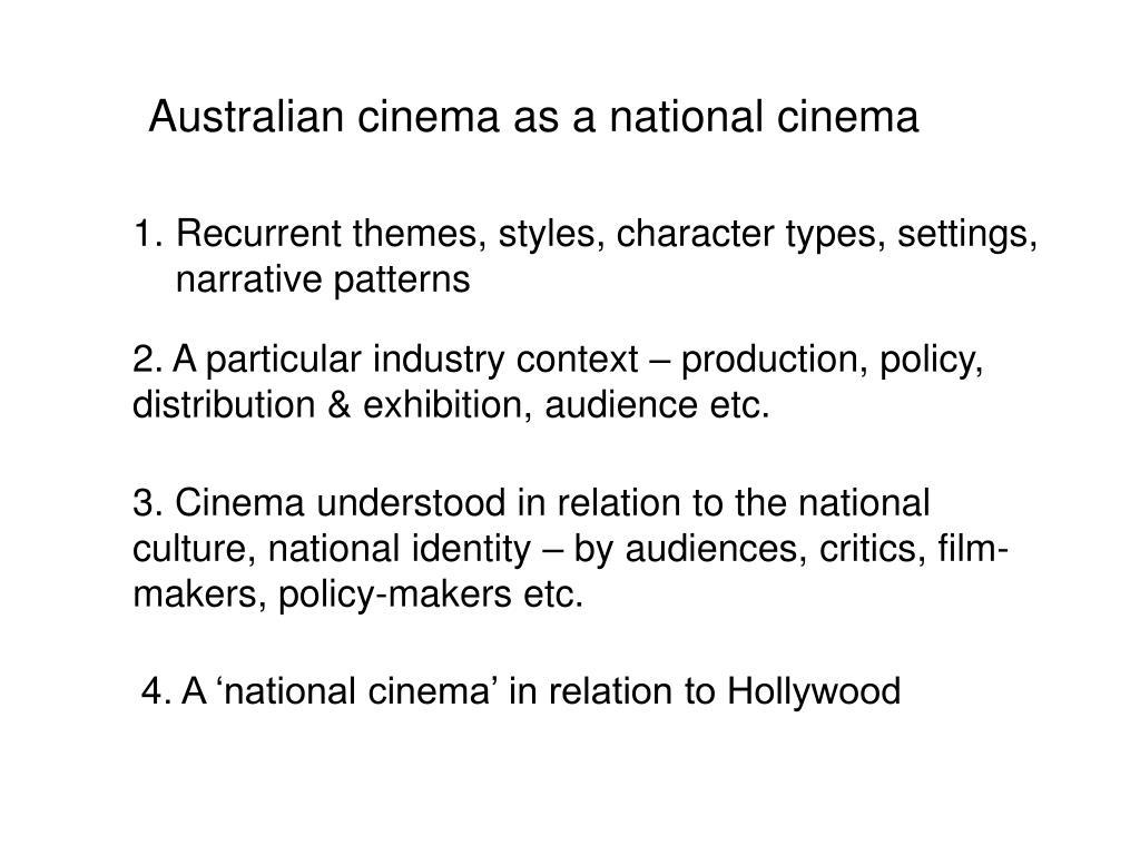Australian cinema as a national cinema