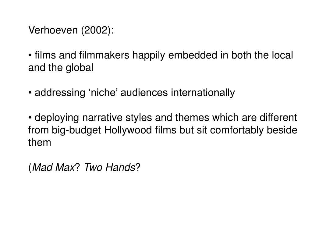 Verhoeven (2002):