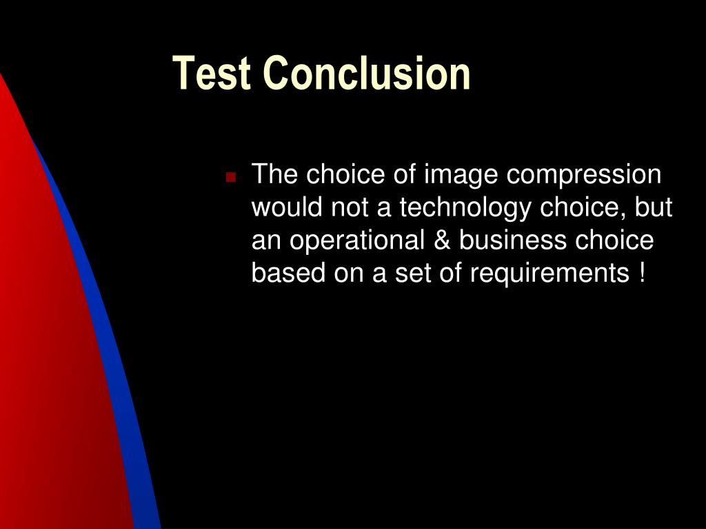 Test Conclusion