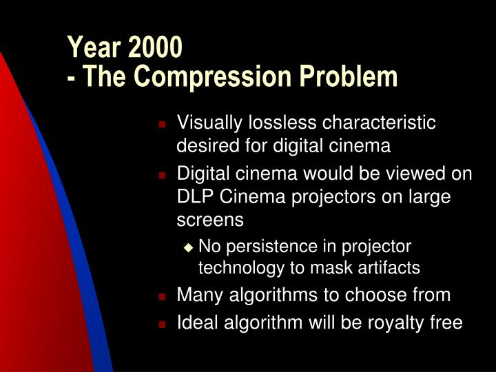 Year 2000 the compression problem