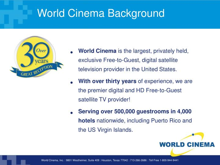 World cinema background