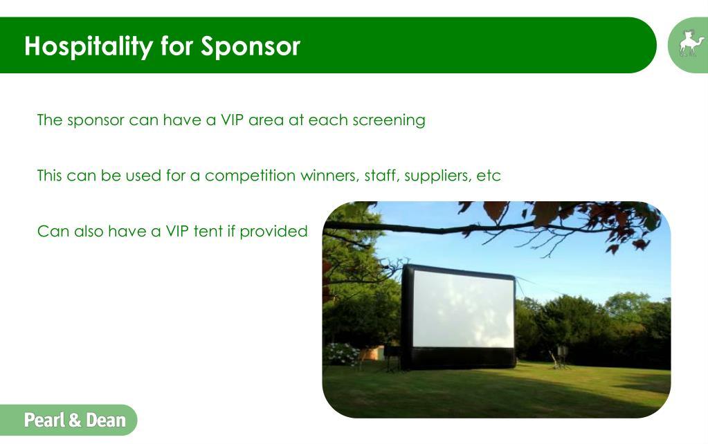 Hospitality for Sponsor