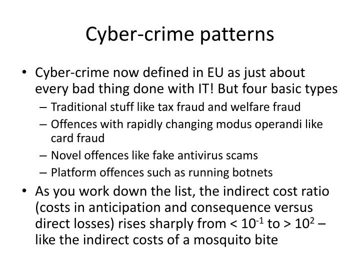 Cyber-crime patterns