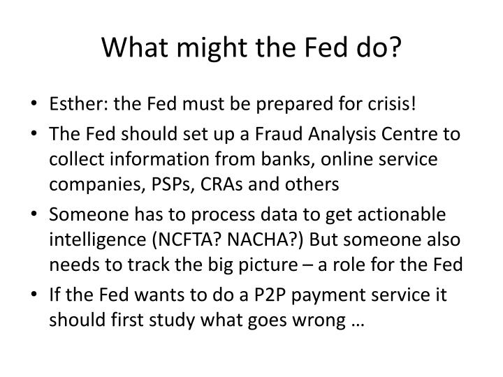 What might the Fed do?