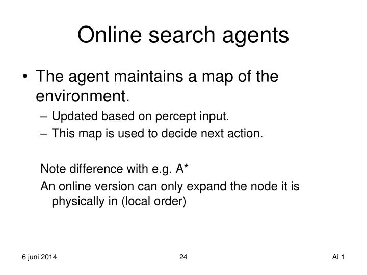 Online search agents