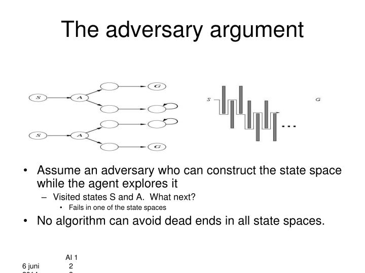 The adversary argument