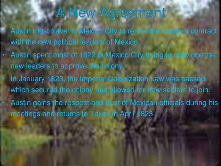A New Agreement