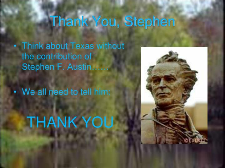 Thank You, Stephen