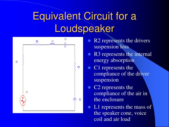 Equivalent Circuit for a Loudspeaker