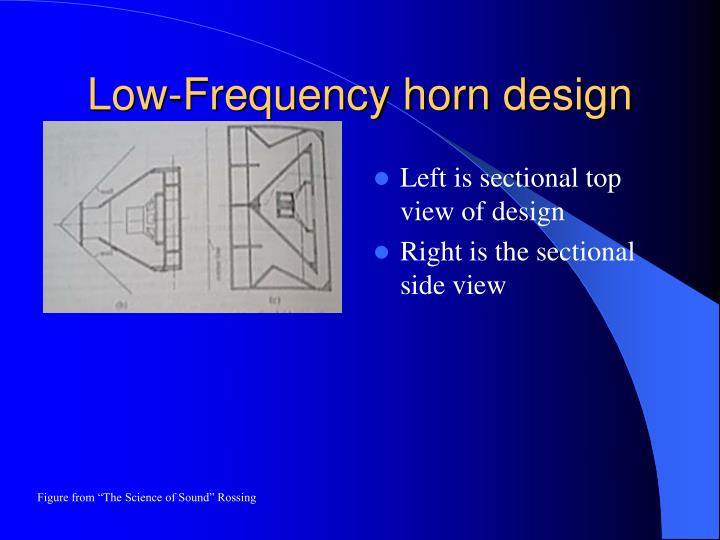 Low-Frequency horn design