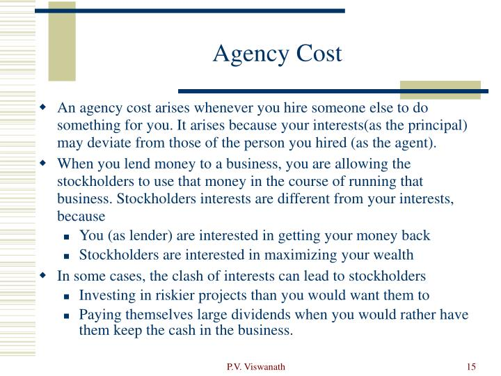 Agency Cost