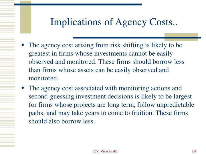 Implications of Agency Costs..