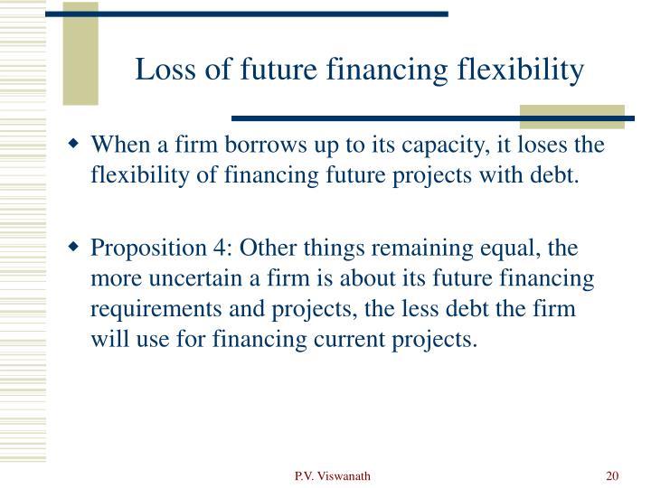 Loss of future financing flexibility