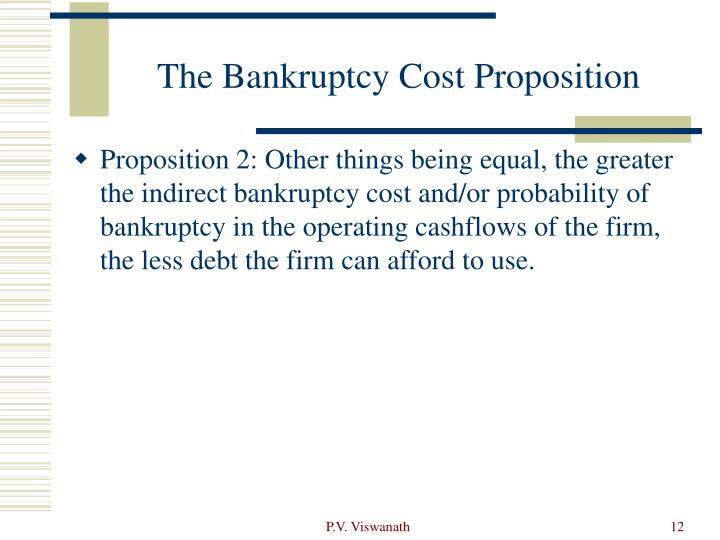 The Bankruptcy Cost Proposition