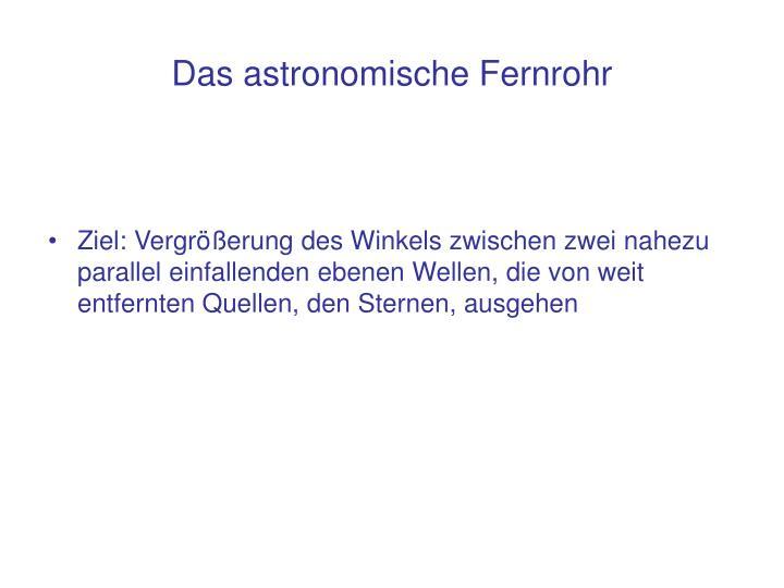 Das astronomische Fernrohr