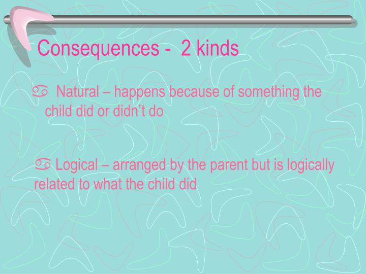 Consequences -  2 kinds