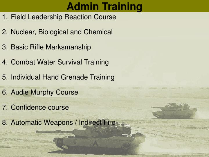 Admin Training