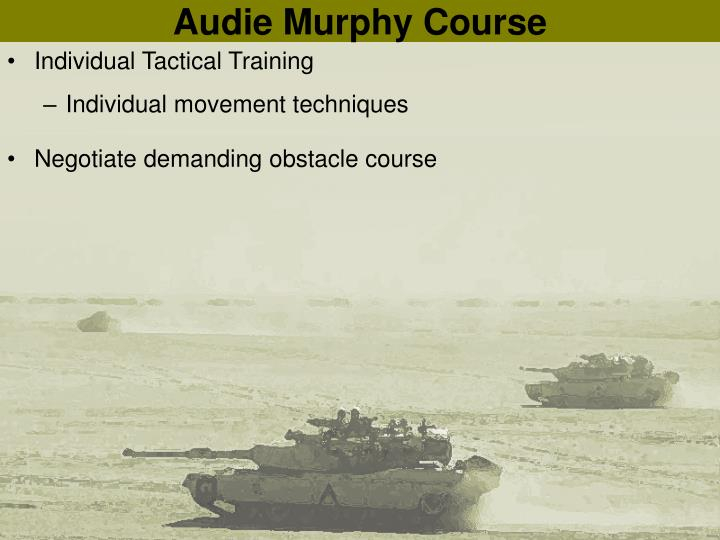 Audie Murphy Course