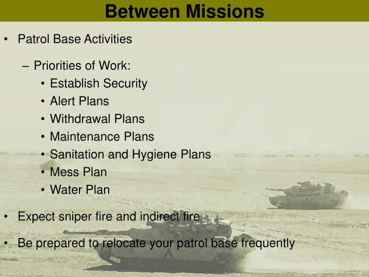 Between Missions