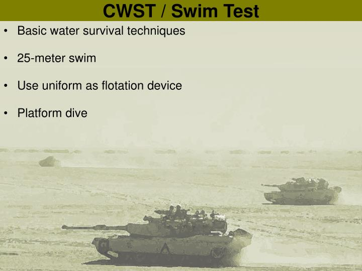 CWST / Swim Test