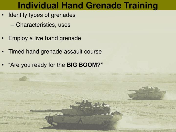Individual Hand Grenade Training